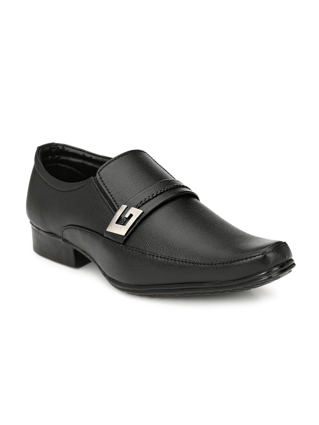 Sir Corbett Men Black Formal Formal Shoes image