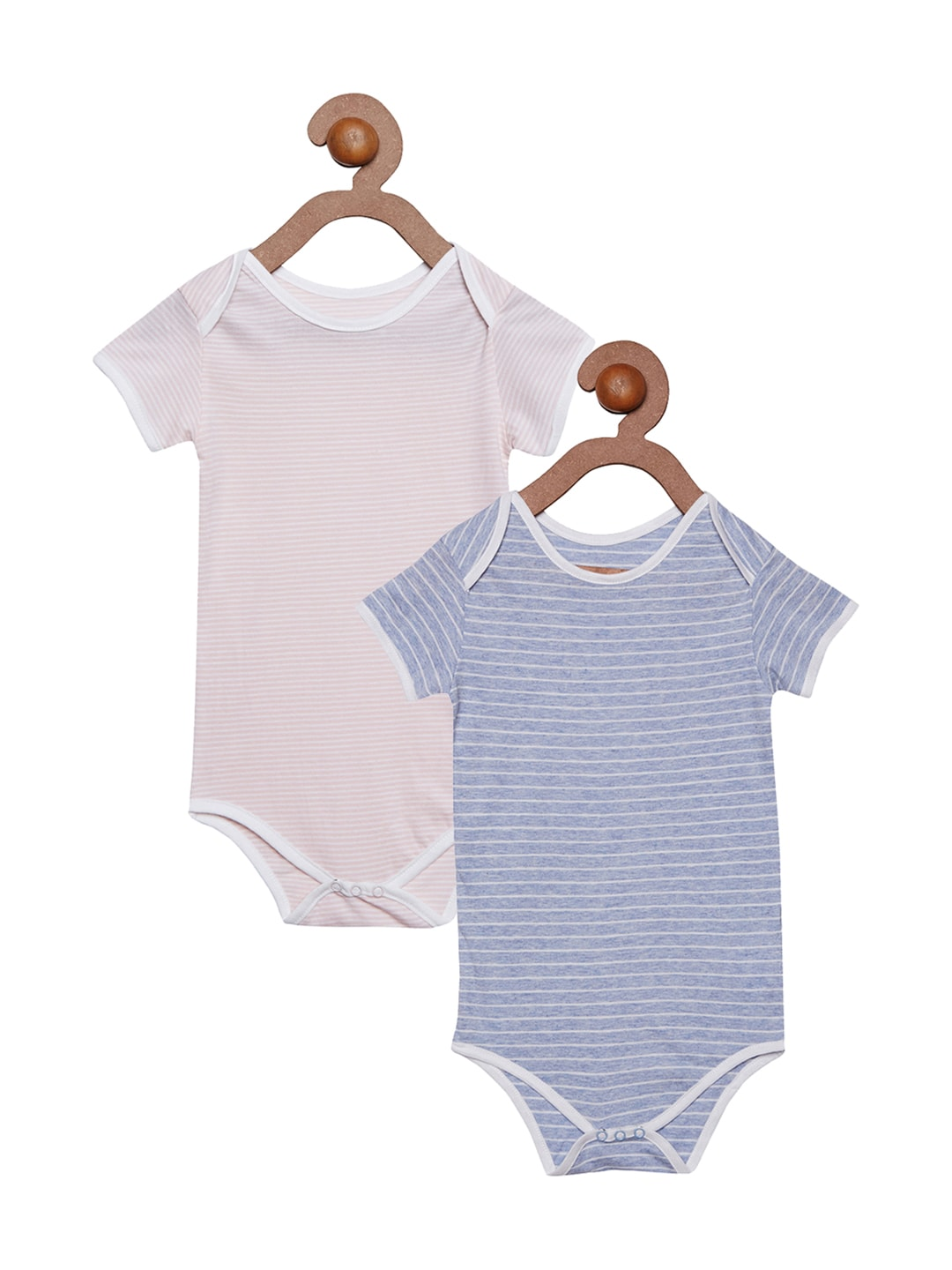 berrytree Kids Pack of 2 Striped Bodysuits image