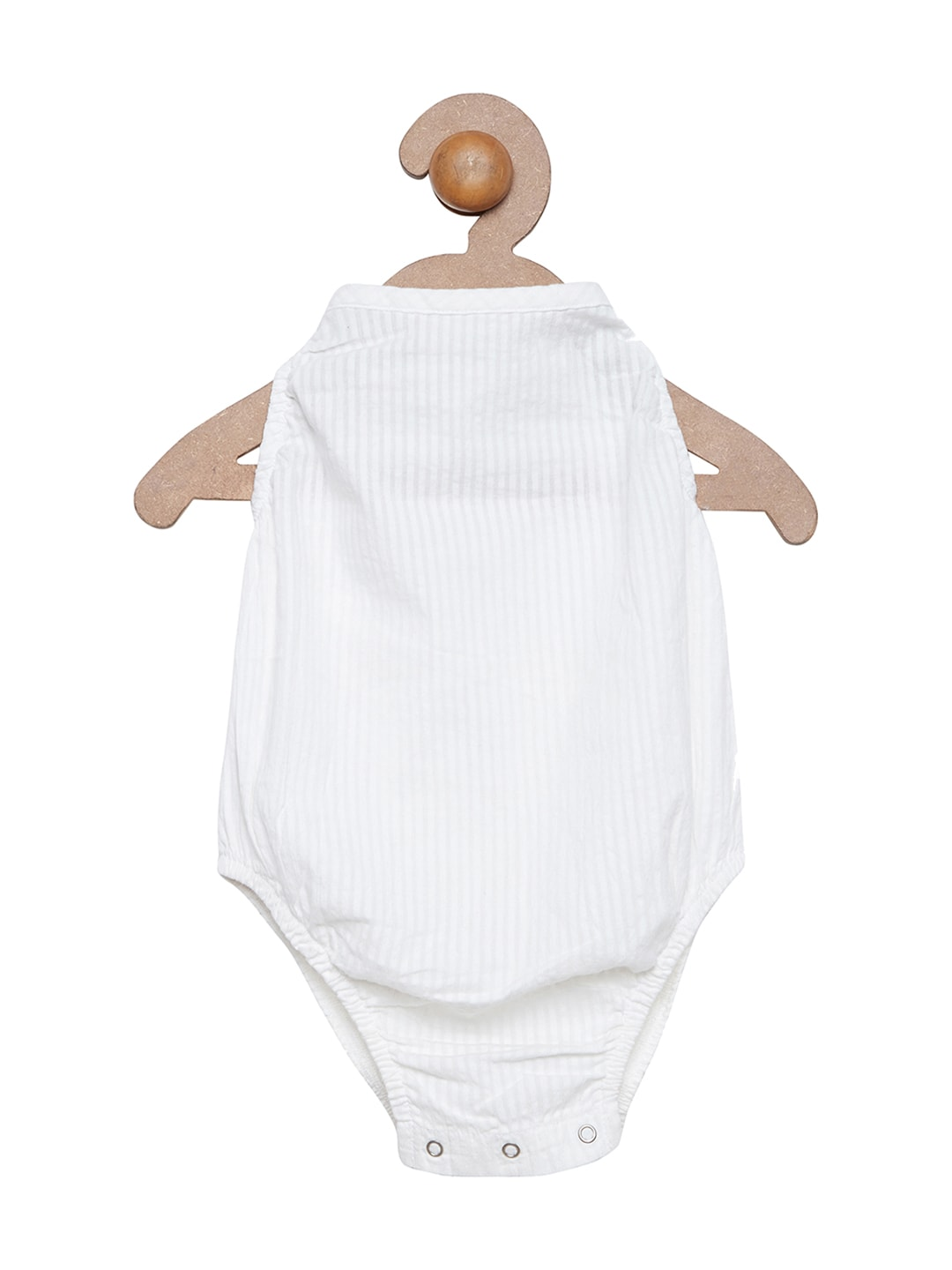 berrytree Kids White Self-Striped Bodysuit image