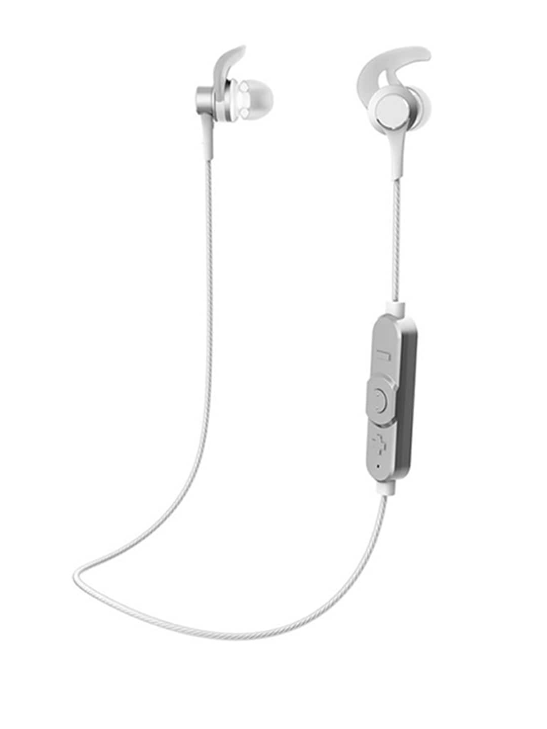 Buy Flipkart SmartBuy Silver-Toned Wireless Bluetooth In-Ear Earphones with Mic At Best Price