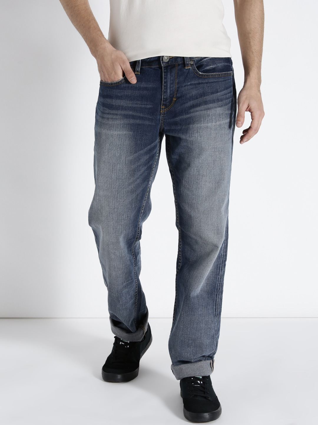 s.Oliver Men Blue Relaxed Fit Mid-Rise Clean Look Jeans image