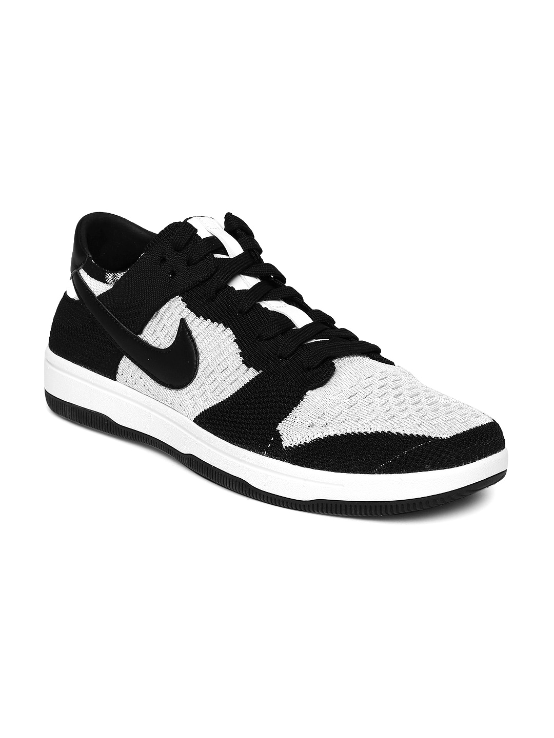 Nike Men Black & White DUNK FLYKNIT Sneakers image