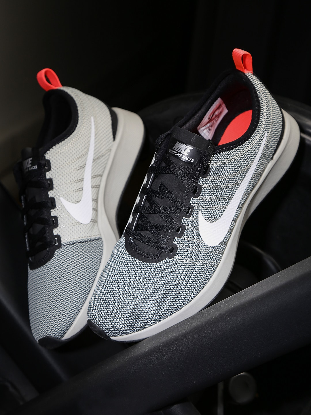 Nike Men Grey Dual Tone Racer Sneakers image