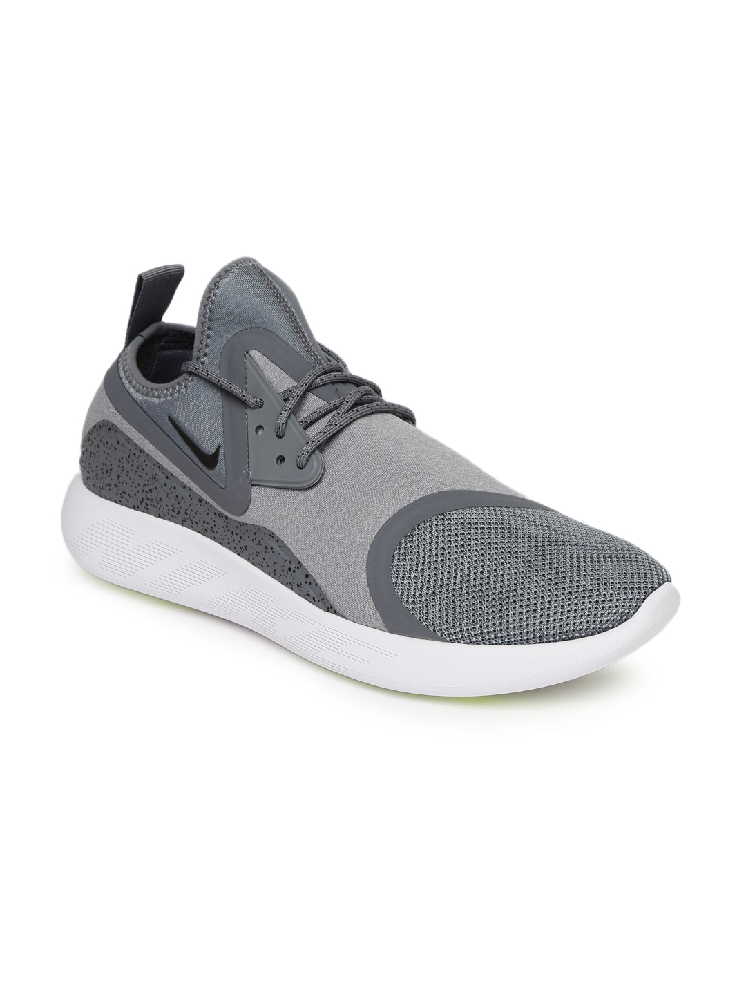 Nike Men Grey Printed LUNARCHARGE ESSENTIAL Mid-Top Sneakers image