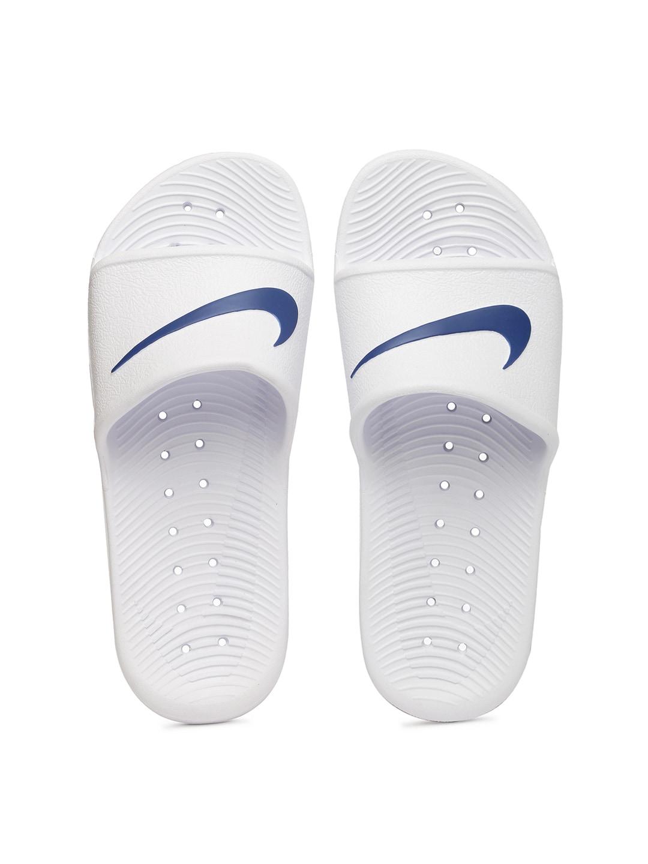 Nike Men White KAWA SHOWER Flip-Flops image