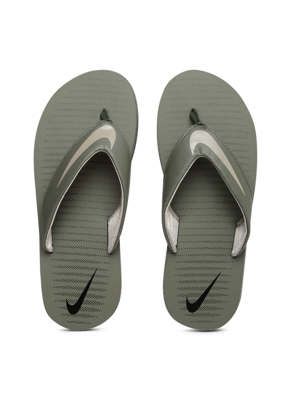 Nike Men Grey Printed CHROMA THONG 5 Flip-Flops image