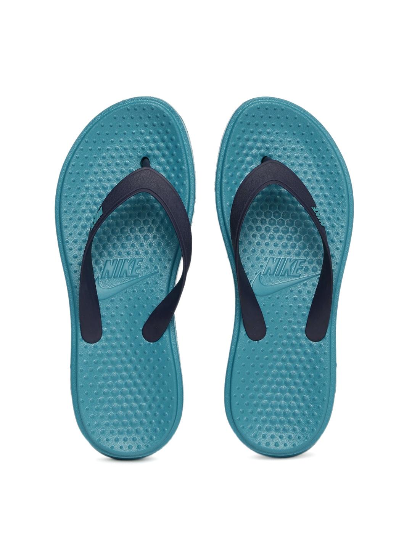Nike Men Blue Solay Thong Flip-Flops image