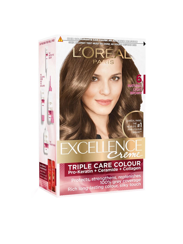 LOreal Paris Excellence Creme Natural Light Brown Hair Colour 06 image