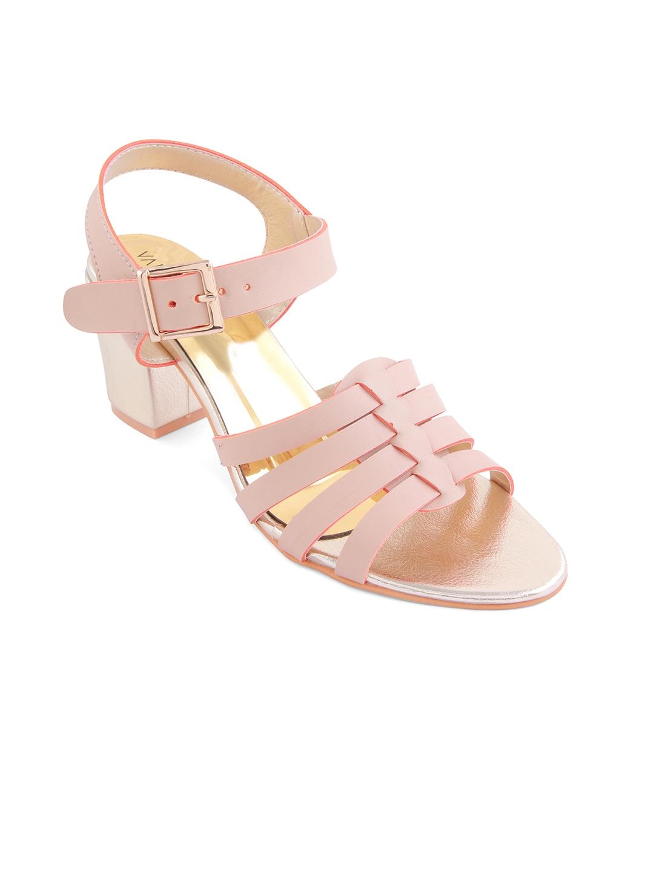 VALIOSAA Women Pink Solid Heels image