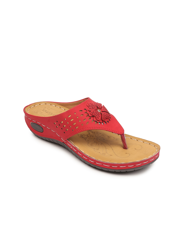 VALIOSAA Women Red Solid Heels image