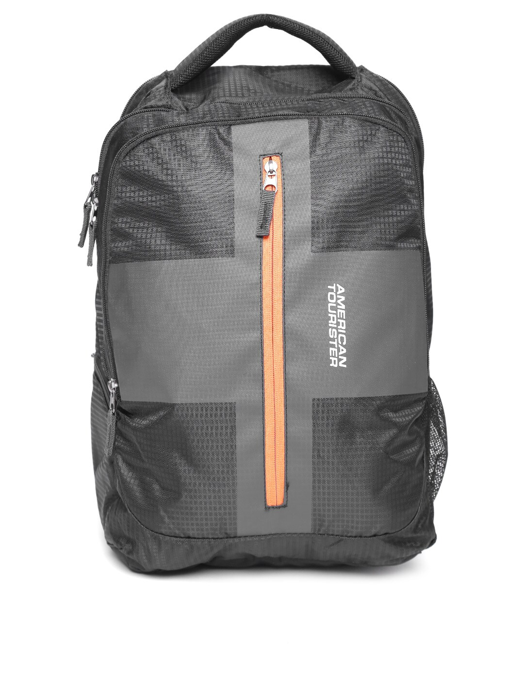 Buy American Tourister Black & Charcoal Grey Printed Unisex Backpack Online at Best Price in India