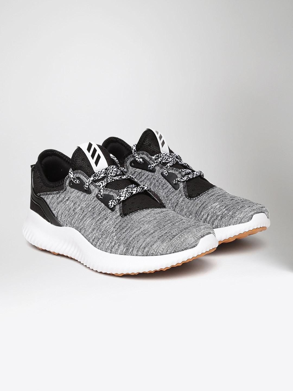 Adidas Women Grey Melange & Black Alphabounce Lux Running Shoes image