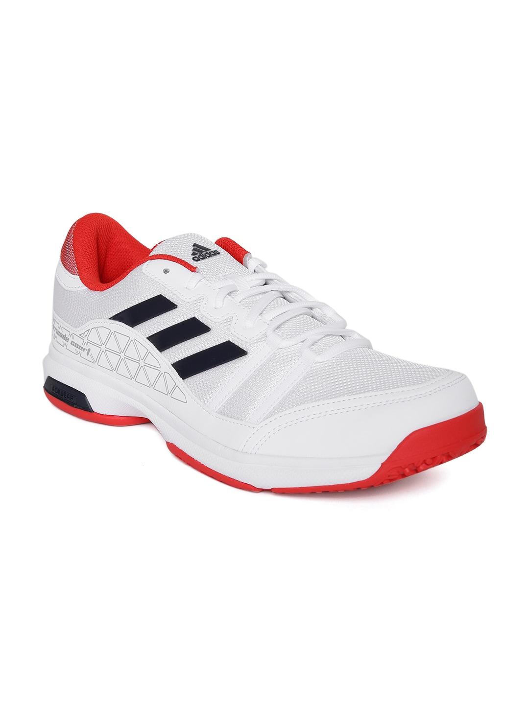 Adidas Unisex White Barricade Court OC Tennis Shoes image