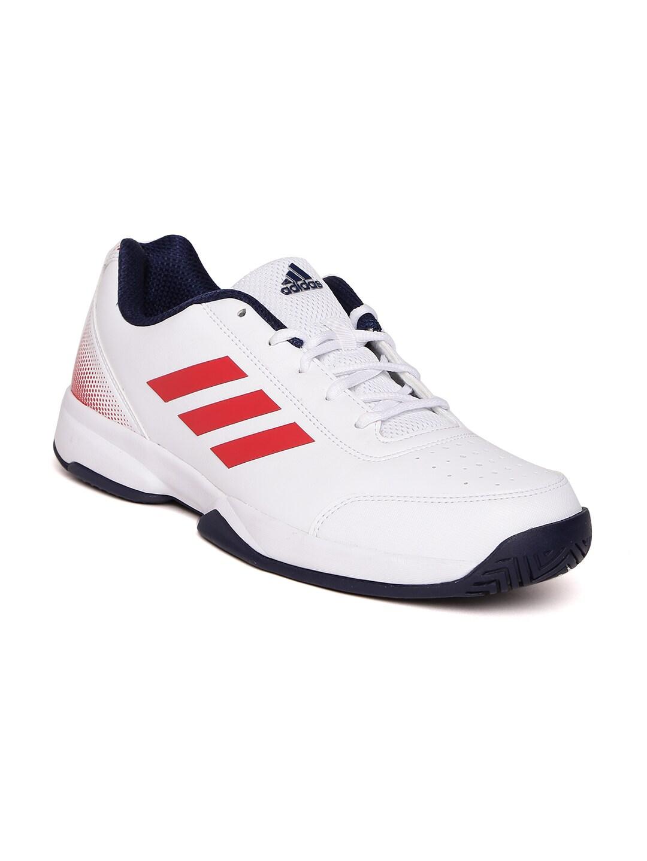 Adidas Men White Racquettes Tennis Shoes image