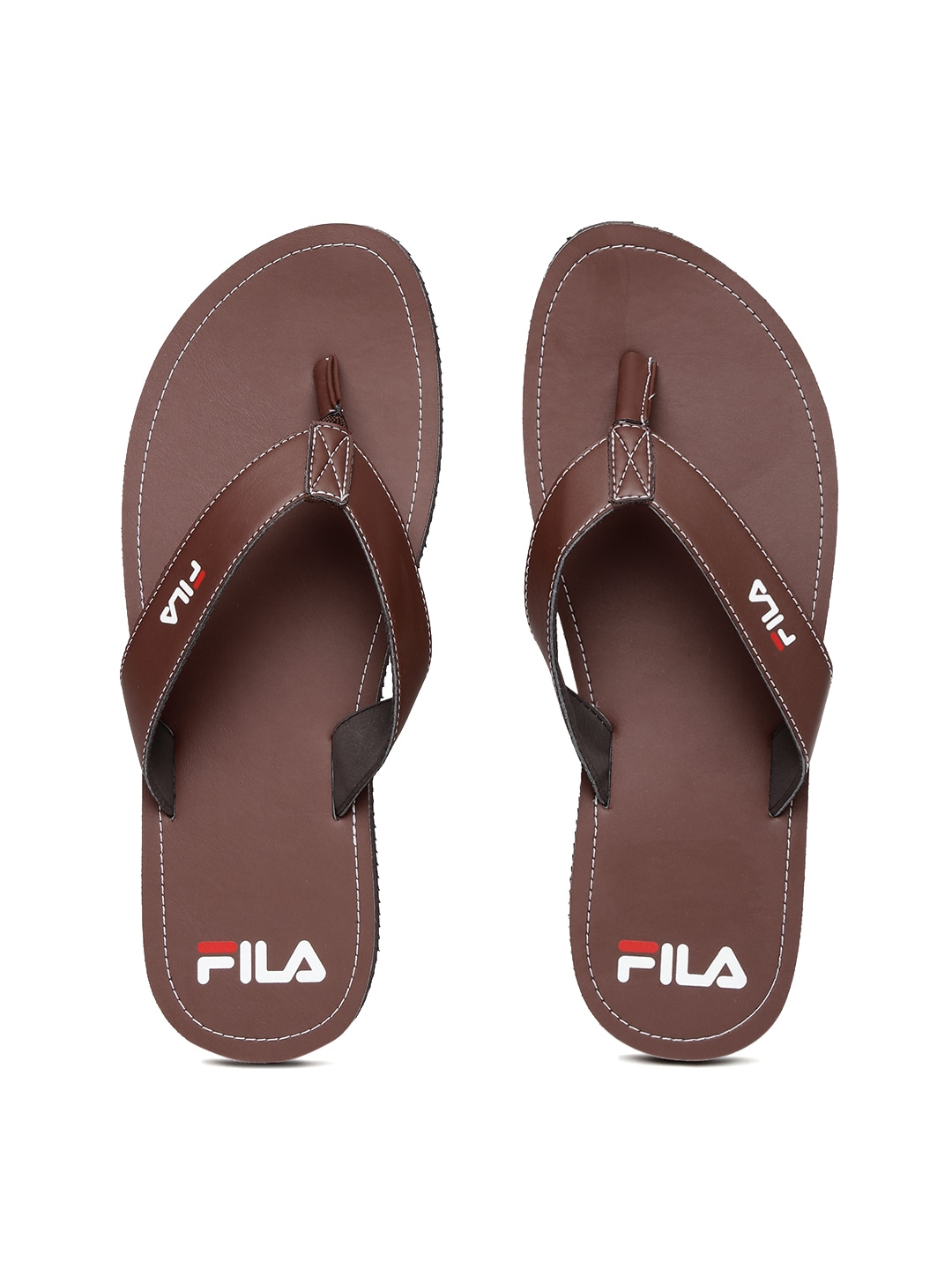 FILA Men Brown Soft Flip-Flops image