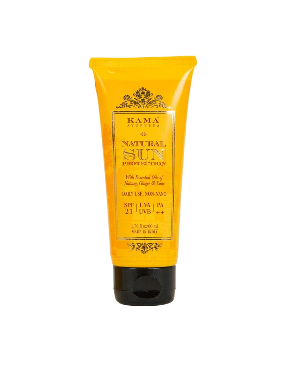 KAMA AYURVEDA Unisex Natural Sun Protection SPF 21 Sunscreen 60 ml image