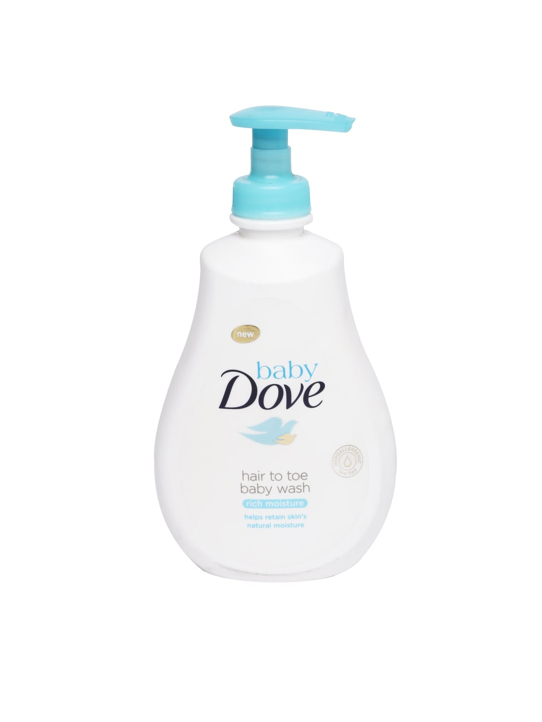 Dove Baby White Rich Moisture Hair To Toe Baby Wash & Shampoo 200 ml image