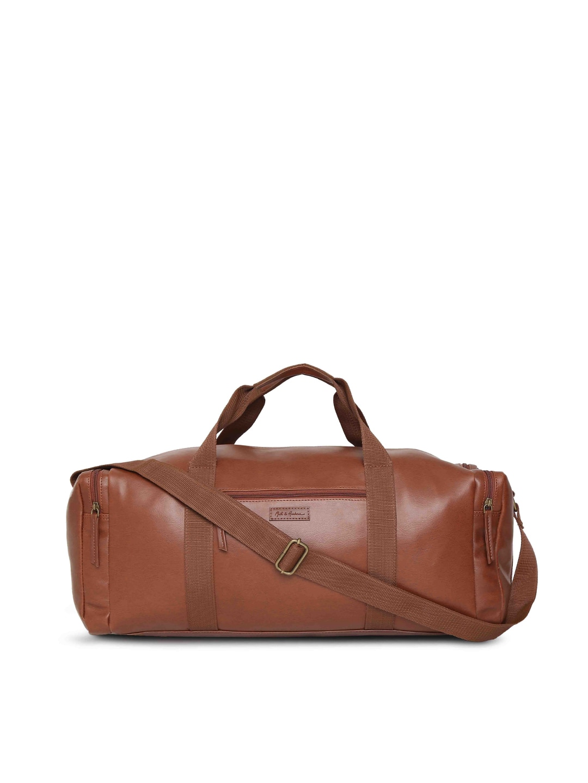 Mast & Harbour Tan Brown Unisex Duffel Bag