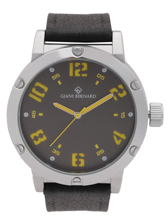 Giani Bernard Men Gunmetal-Toned Analogue Watch GB-102B