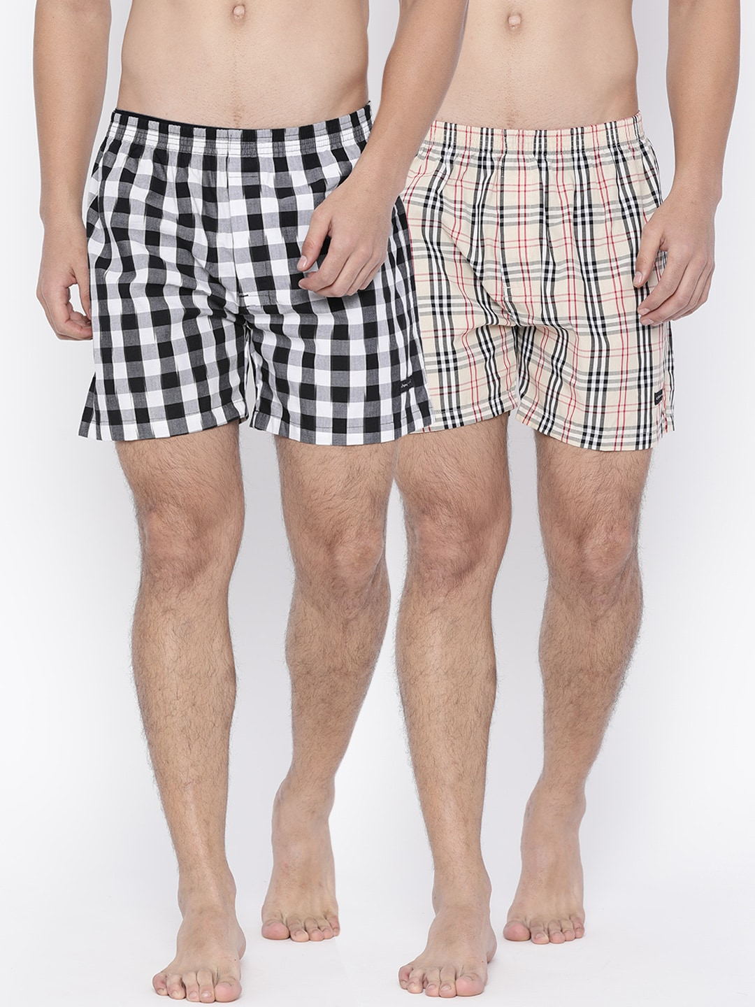 Chromozome Pack of 2 Checked Boxers IT 04 image