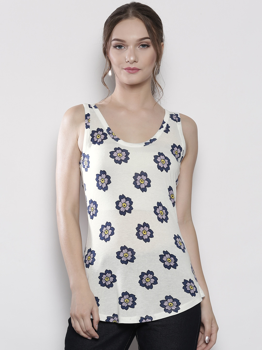 DOROTHY PERKINS Women White Printed Top image