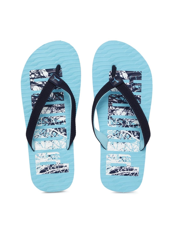 Puma Unisex Blue Printed Miami Fashion DP Flip-Flops image