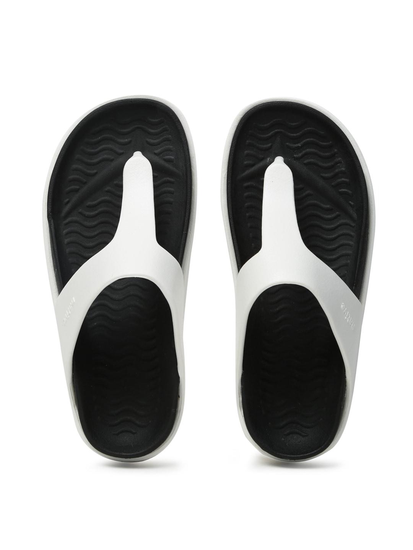 native shoes Unisex White & Black Turner T-Strap Flip-Flops image