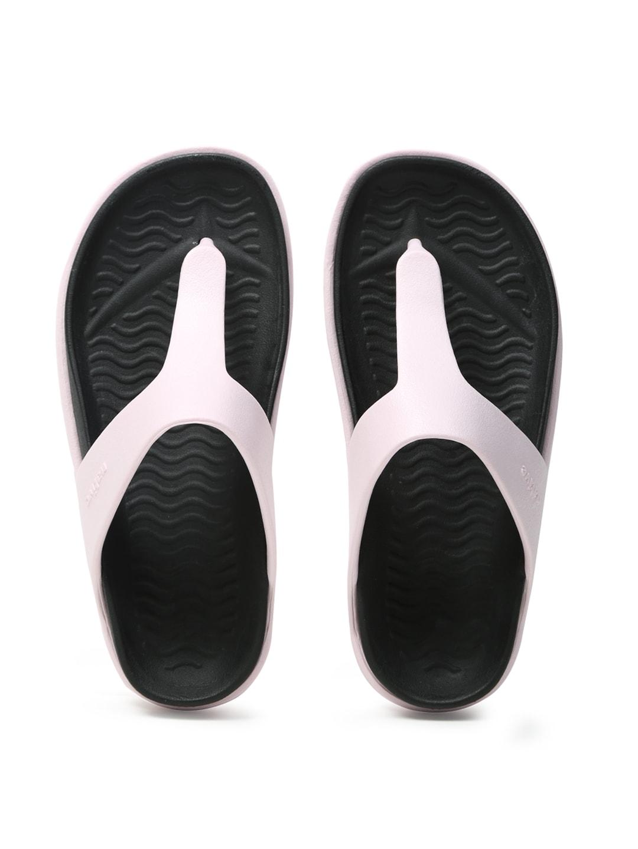 native shoes Unisex Pink & Black Turner T-Strap Flip-Flops image