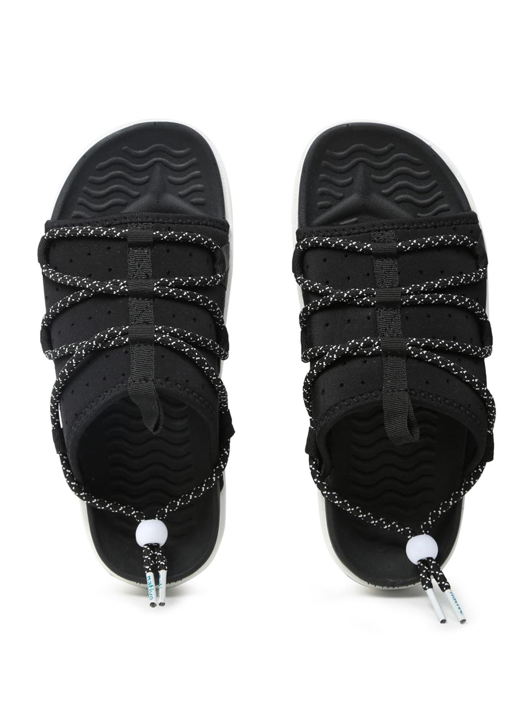 native shoes Unisex Black Palmer Perforated Slider Flip-Flops image