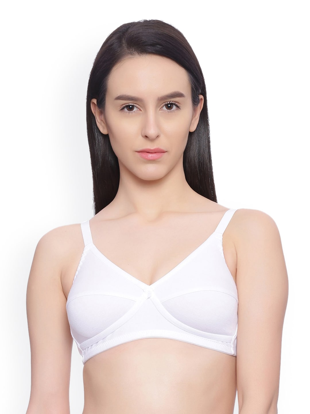 Rosaline White Solid Non-Wired Non Padded Everyday Bra RO00LCB30TAWHTE image