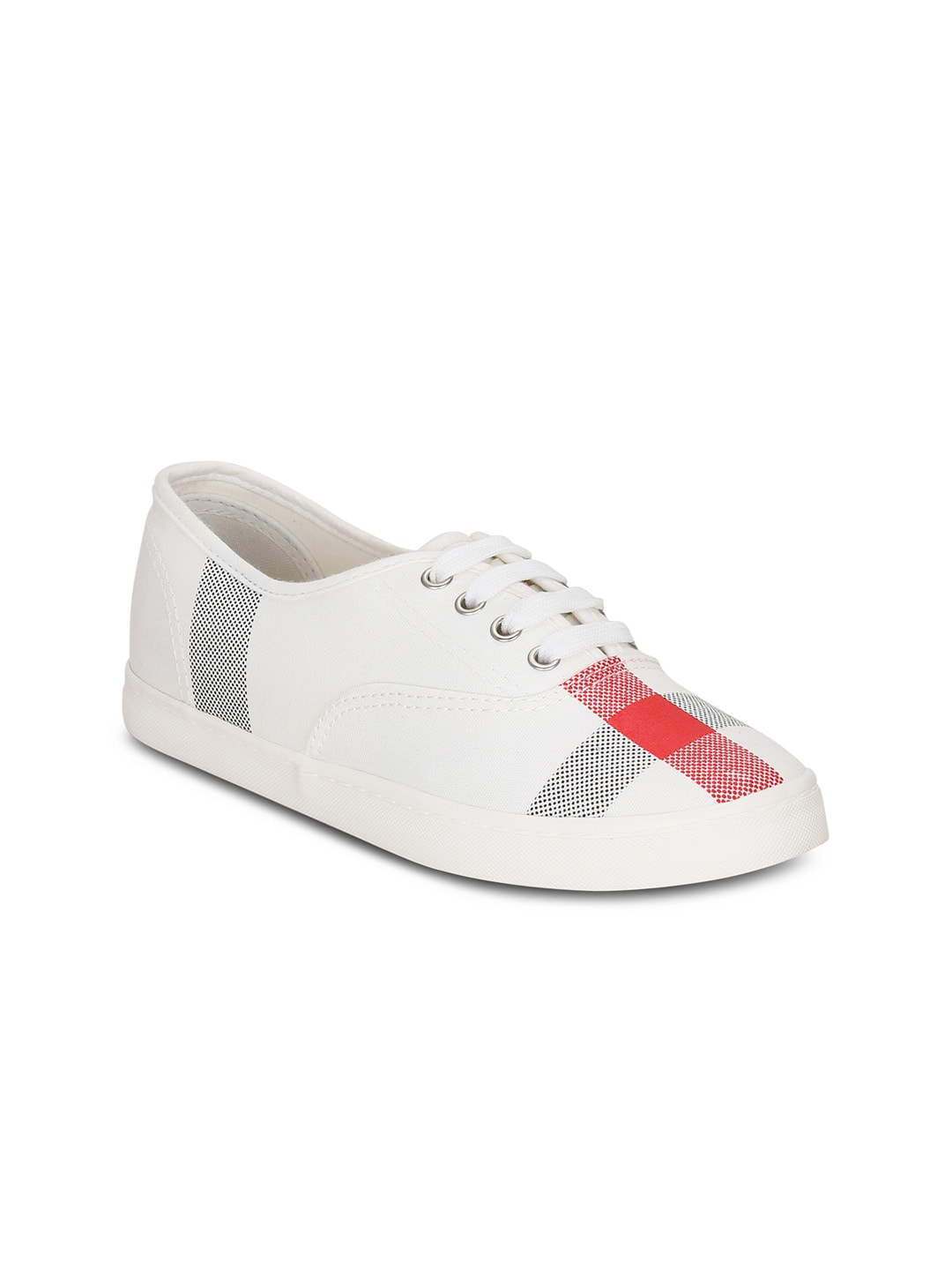 Get Glamr Women White Sneakers image