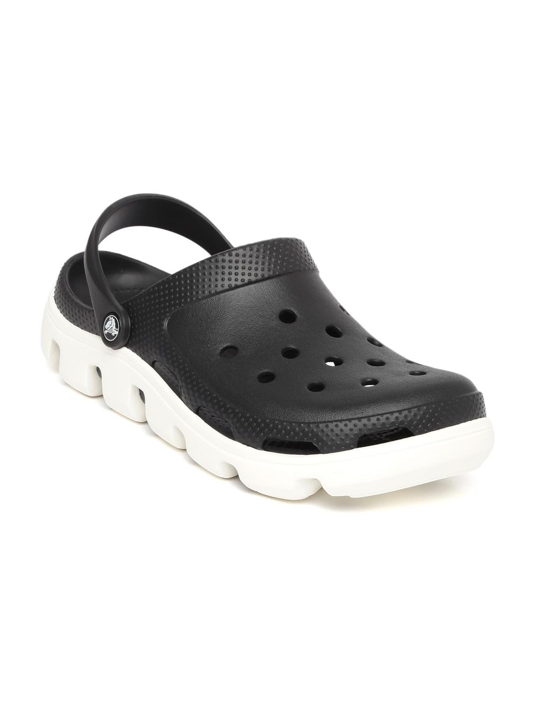 Crocs Unisex Black Duet Sport Clogs image