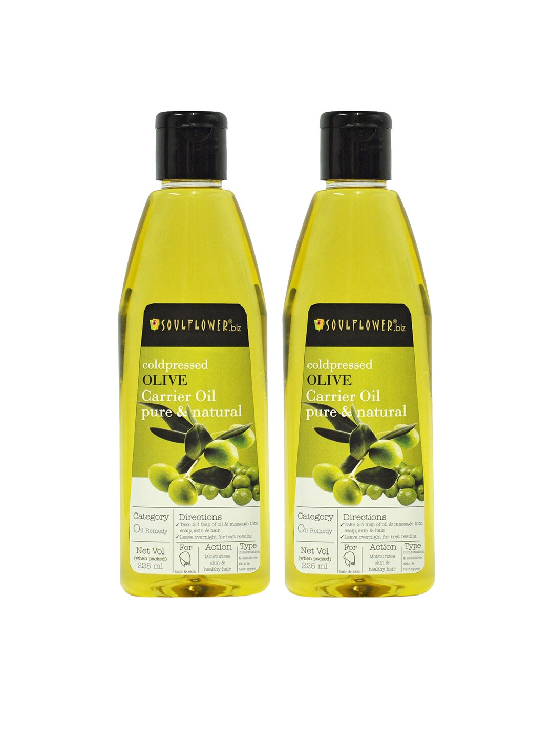 Soulflower Set of 2 Coldpressed Olive Carrier Oils 225ml image