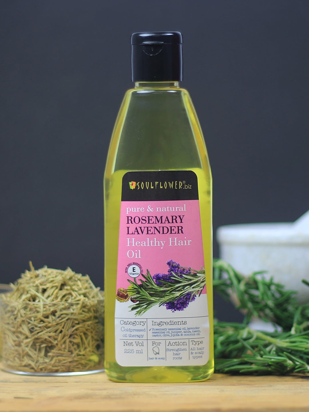 Soulflower Set of 2 Rosemary Lavender Hair Oils 225ml image