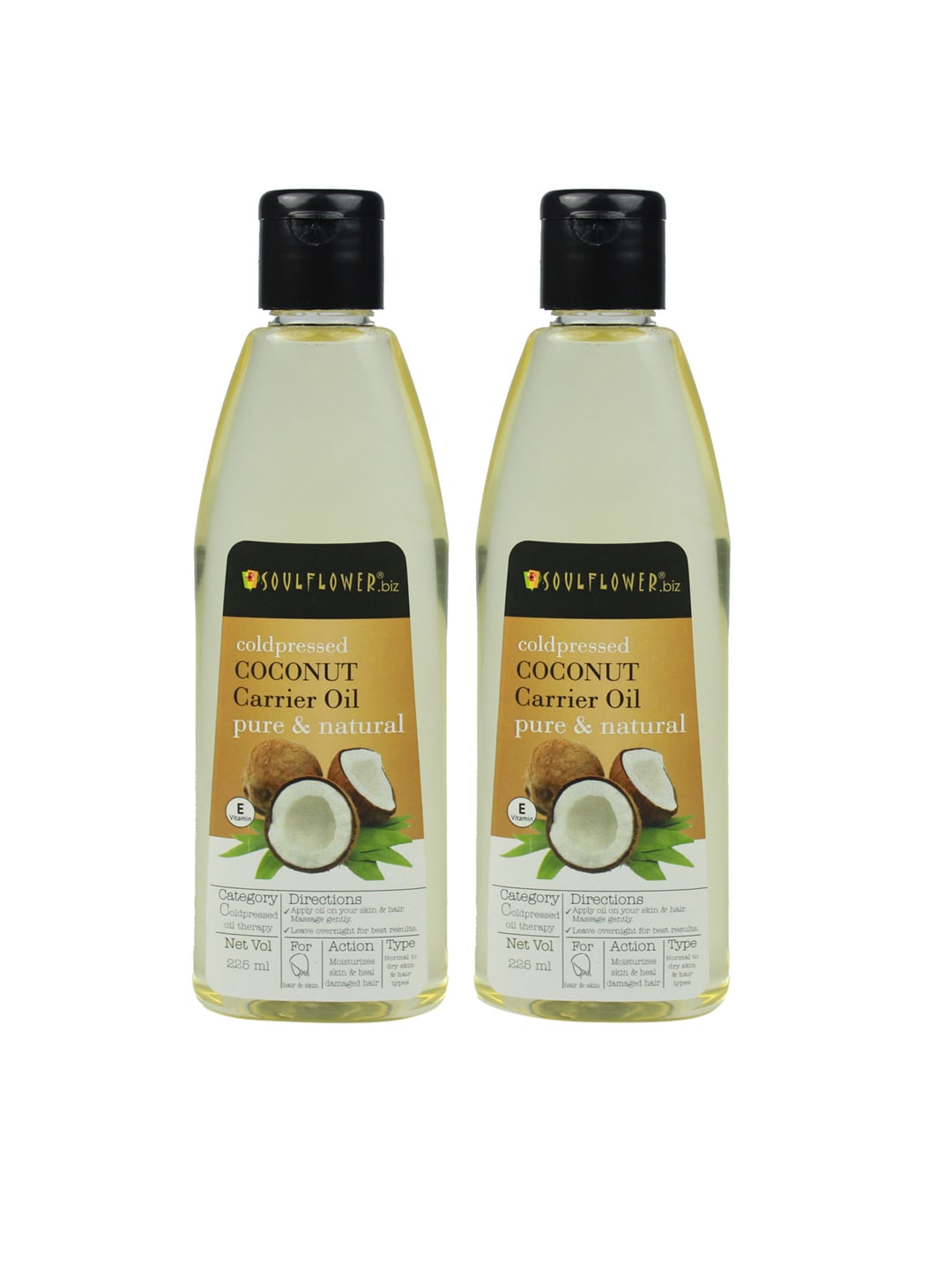 Soulflower Set of 2 Coconut Carrier Oils 225ml image