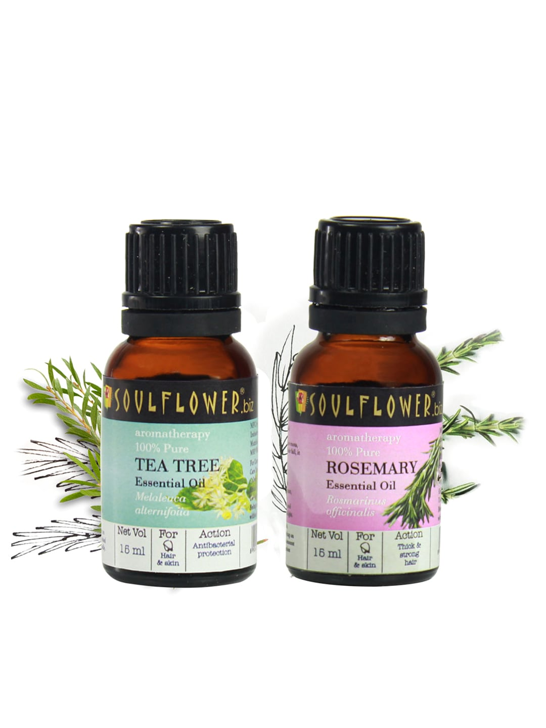 Soulflower Set of 2 Essential Oils (15ml combo) image
