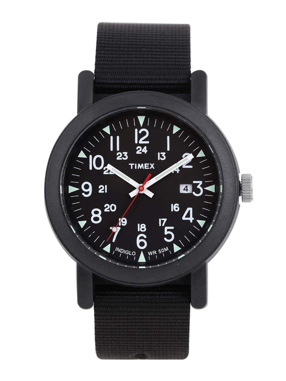 Timex Men Black Analogue Watch T2N364 image