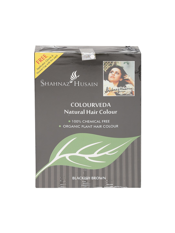 Shahnaz Husain Unisex Blackish Brown Colourveda Natural Hair Colour 100 g image