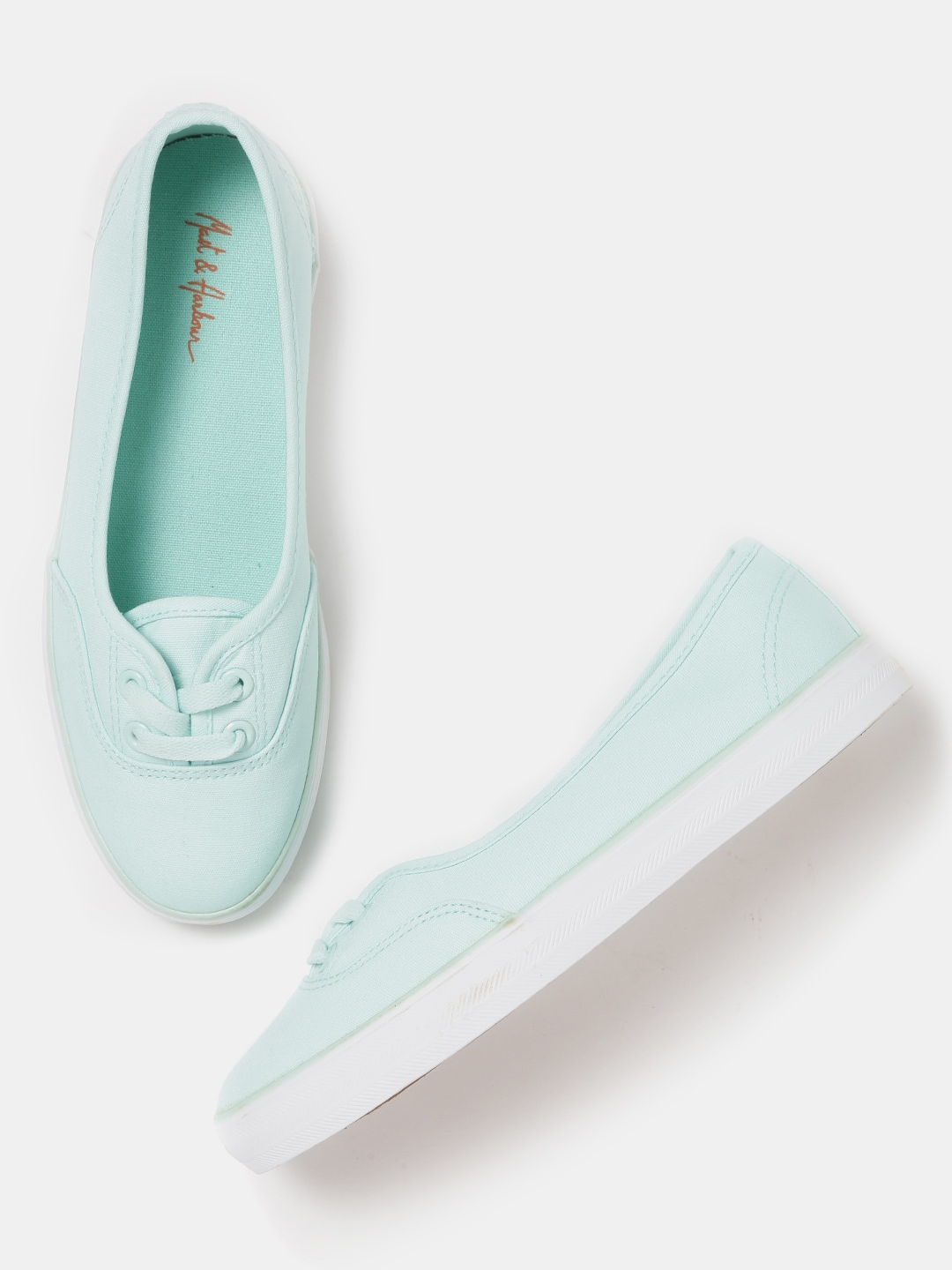 Mast & Harbour Women Mint Green Sneakers Price in India