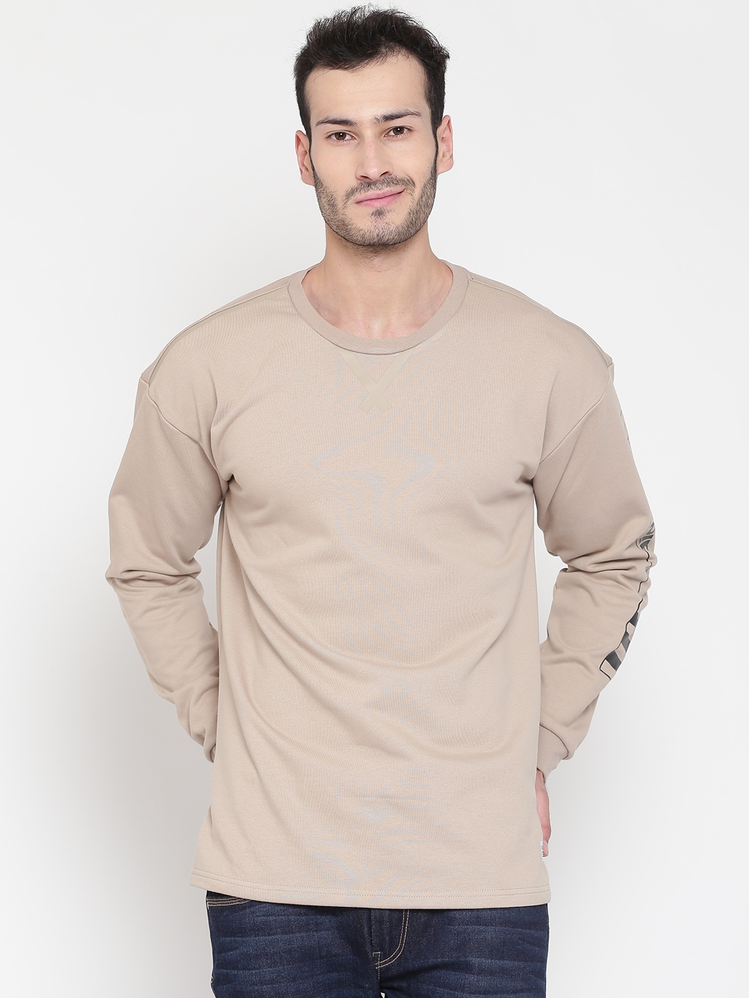 Buy Adidas NEO Beige UT Elonggated GR Men's Sweatshirt At Best Price