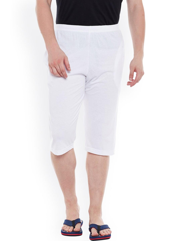 VIMAL White Lounge Shorts D13 image