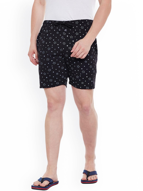 VIMAL Black Printed Lounge Shorts D11-PRT-NO.1 image