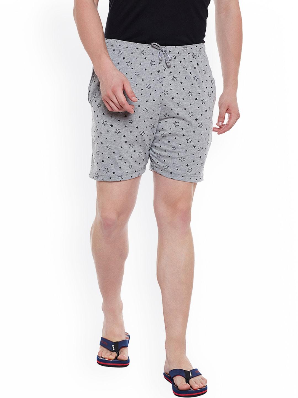 VIMAL Grey Melange Printed Lounge Shorts D11-PRT-NO.1 image