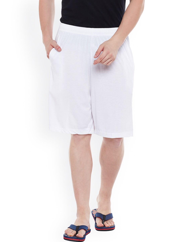 VIMAL White Lounge Shorts D12 image