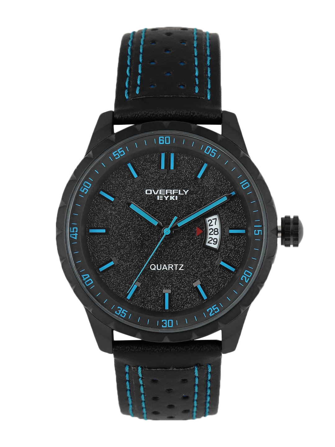 Overfly Men Black Analogue Watch EOV3060L-B1313