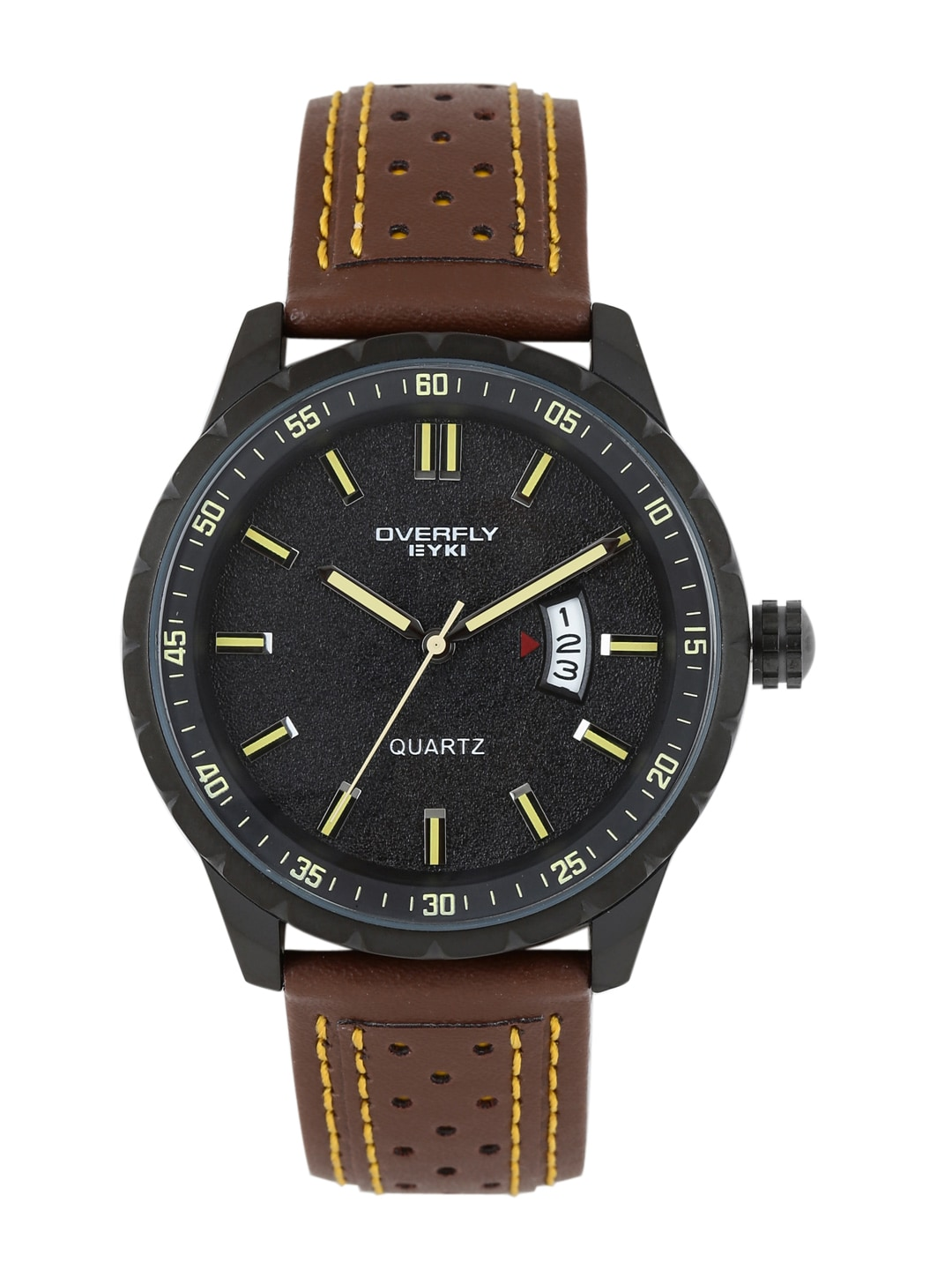 Overfly Men Black Analogue Watch EOV3060L
