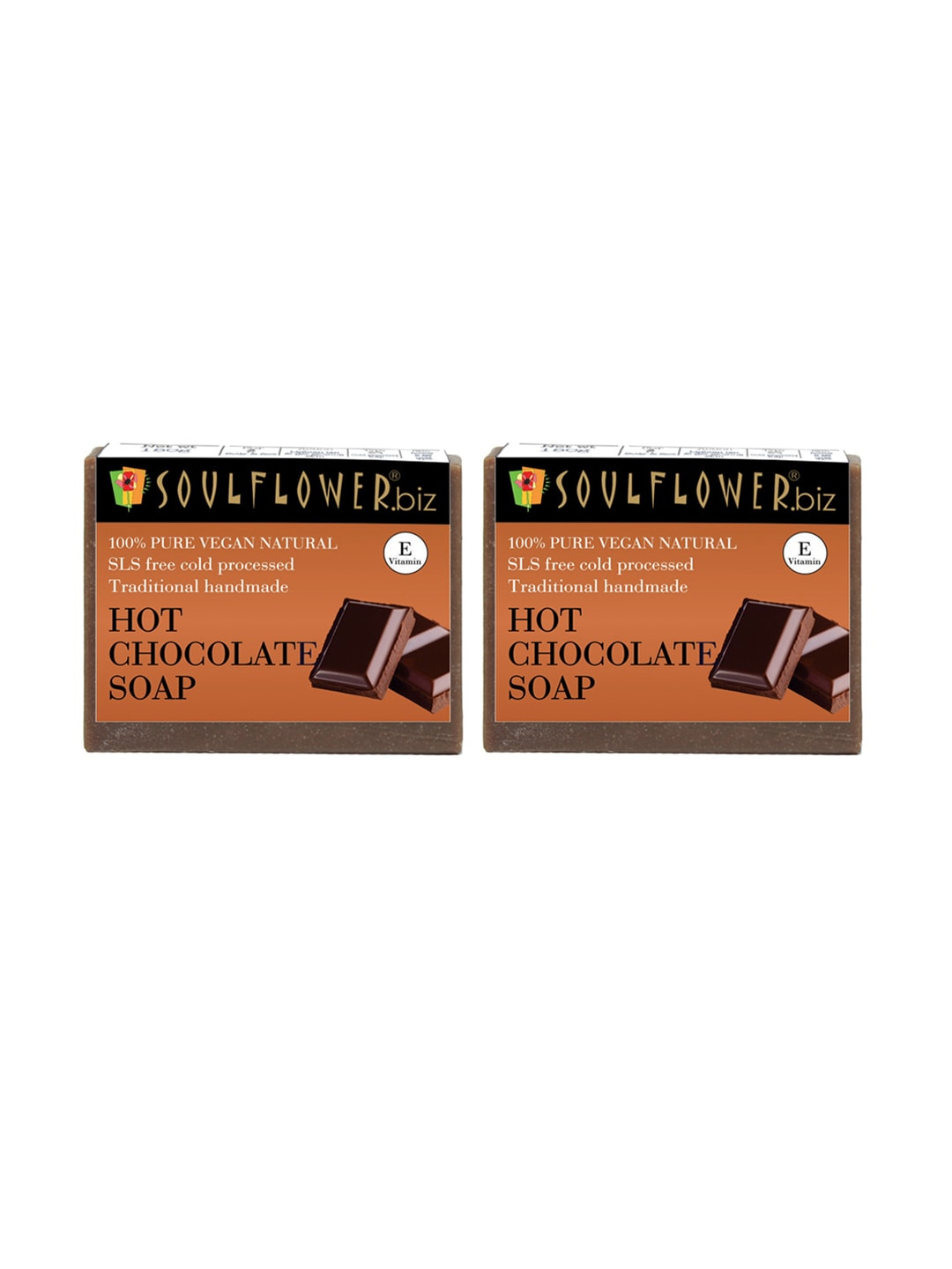 Soulflower Unisex Pack of 2 Hot Chocolate Soaps image