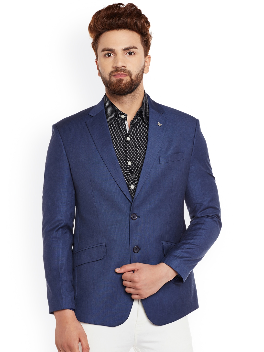 Canary London Blue Slim Fit Single-Breasted Blazer image