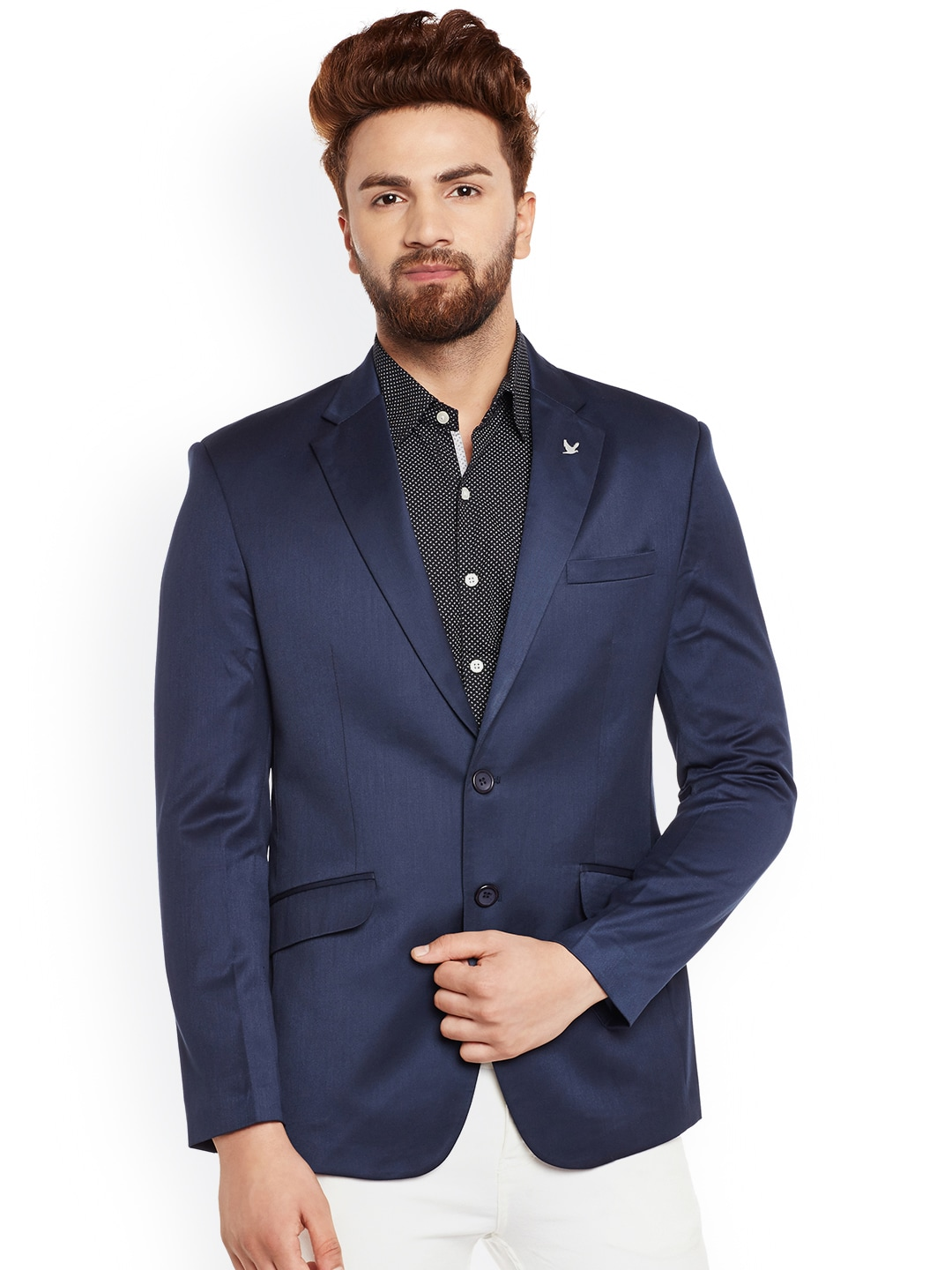 Canary London Navy Slim Fit Single-Breasted Blazer image