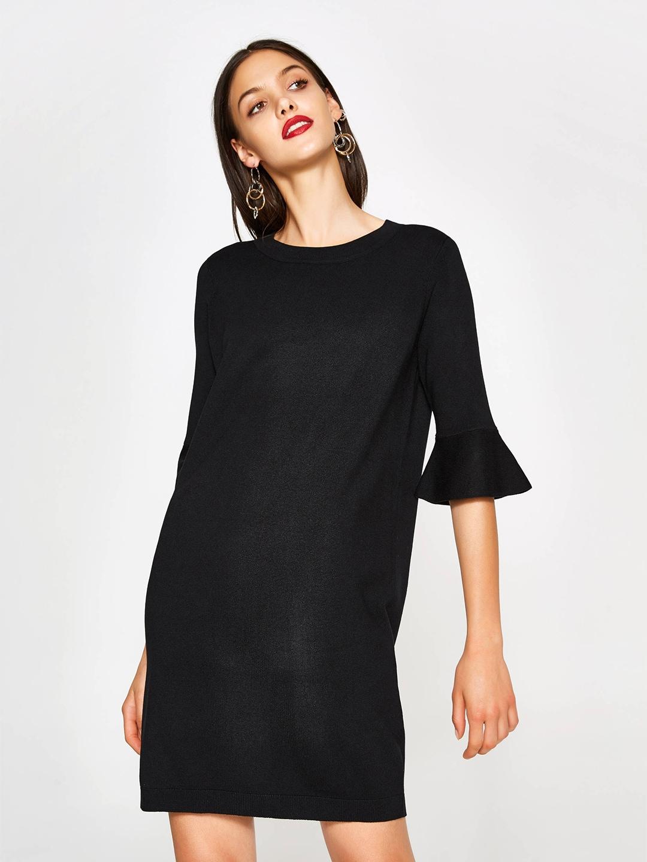 OVS Women Black Bell Sleeve Shift Dress image